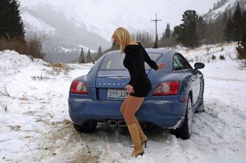 Вождение автомобиля зимой для